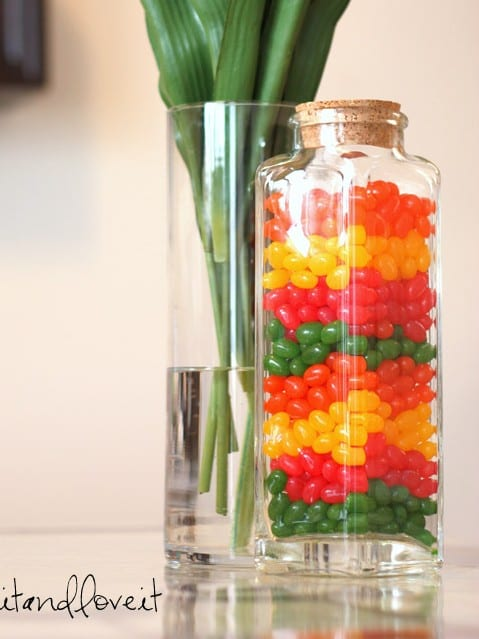 Jelly bean jar decor