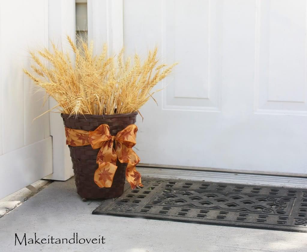 Autumn Wheat Basket