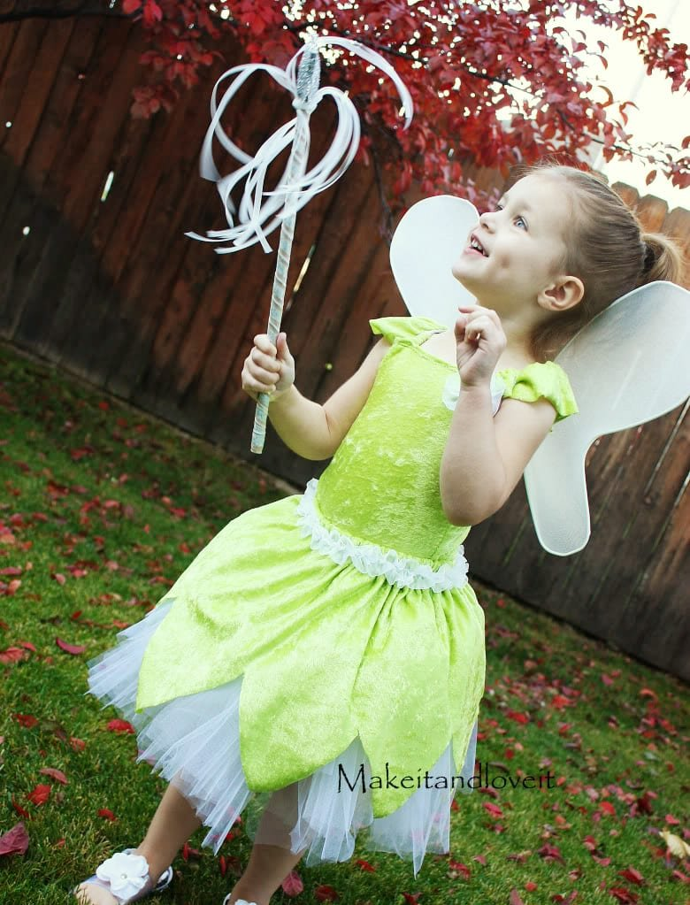 sc 1 st  Makeit-loveit & Tinker Bell Costume | Make It and Love It