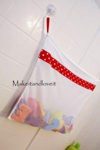 mesh bath toy bag