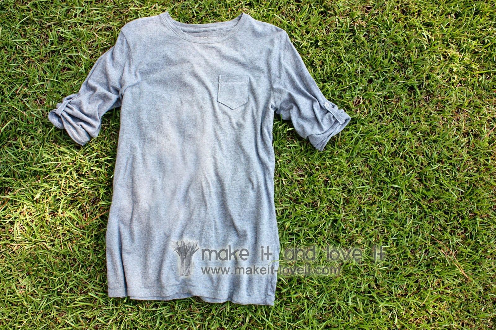 Re-purposing: Women's Long Sleeved Shirt Into Short