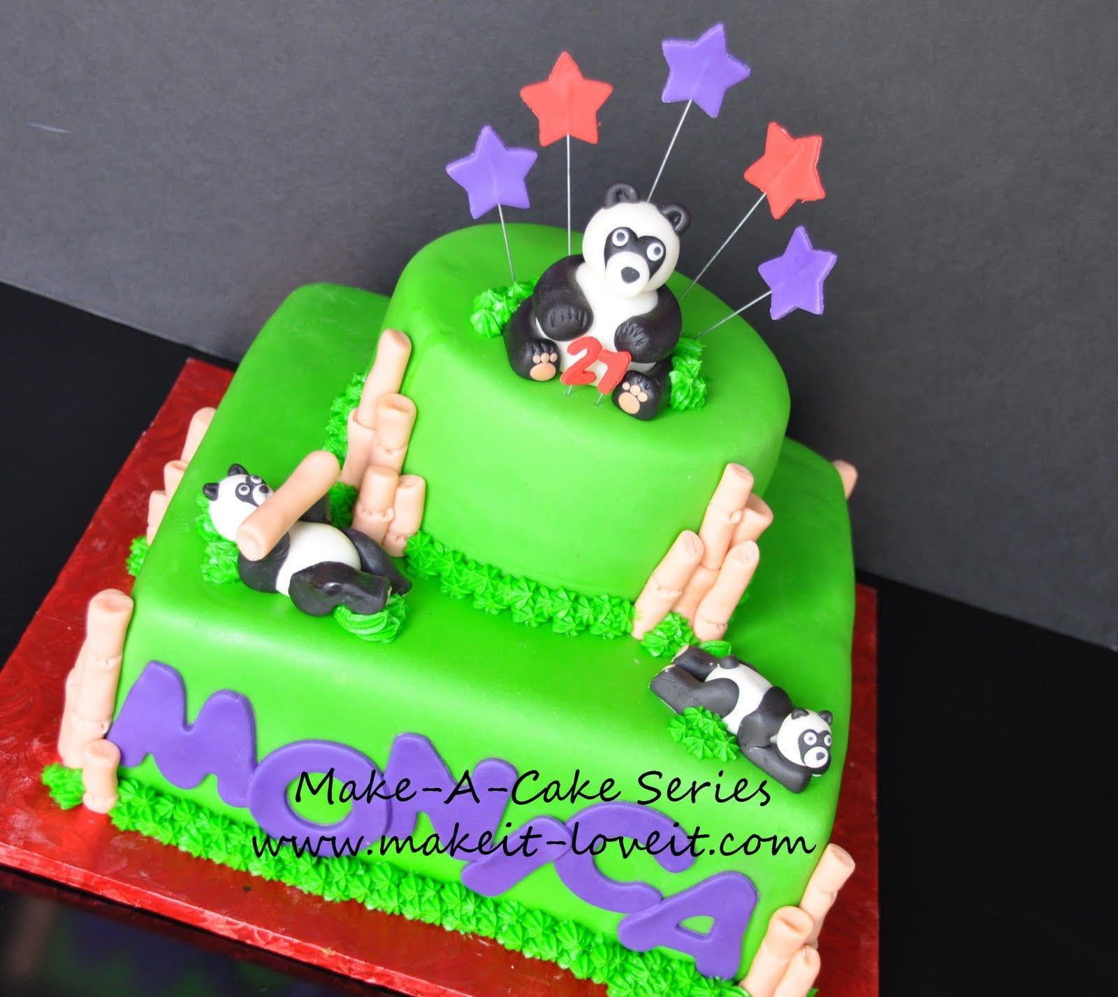 Make-a-Cake Series: Panda and Bamboo