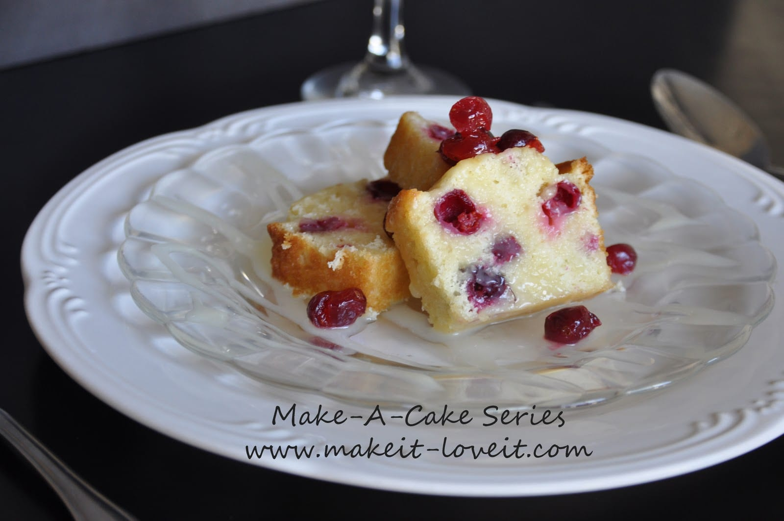Make-a-Cake Series: Cranberry Cake with Warm Vanilla Butter Sauce