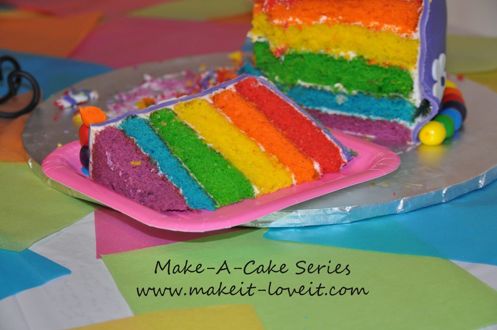 Make A Cake Series My Little Pony Cake And Rainbow
