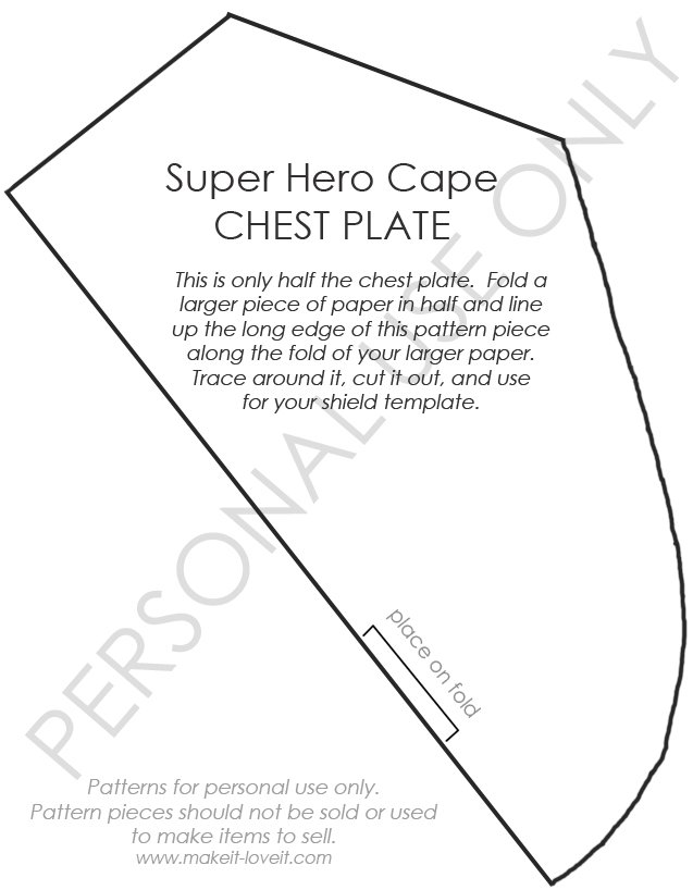 Chest Plate Template