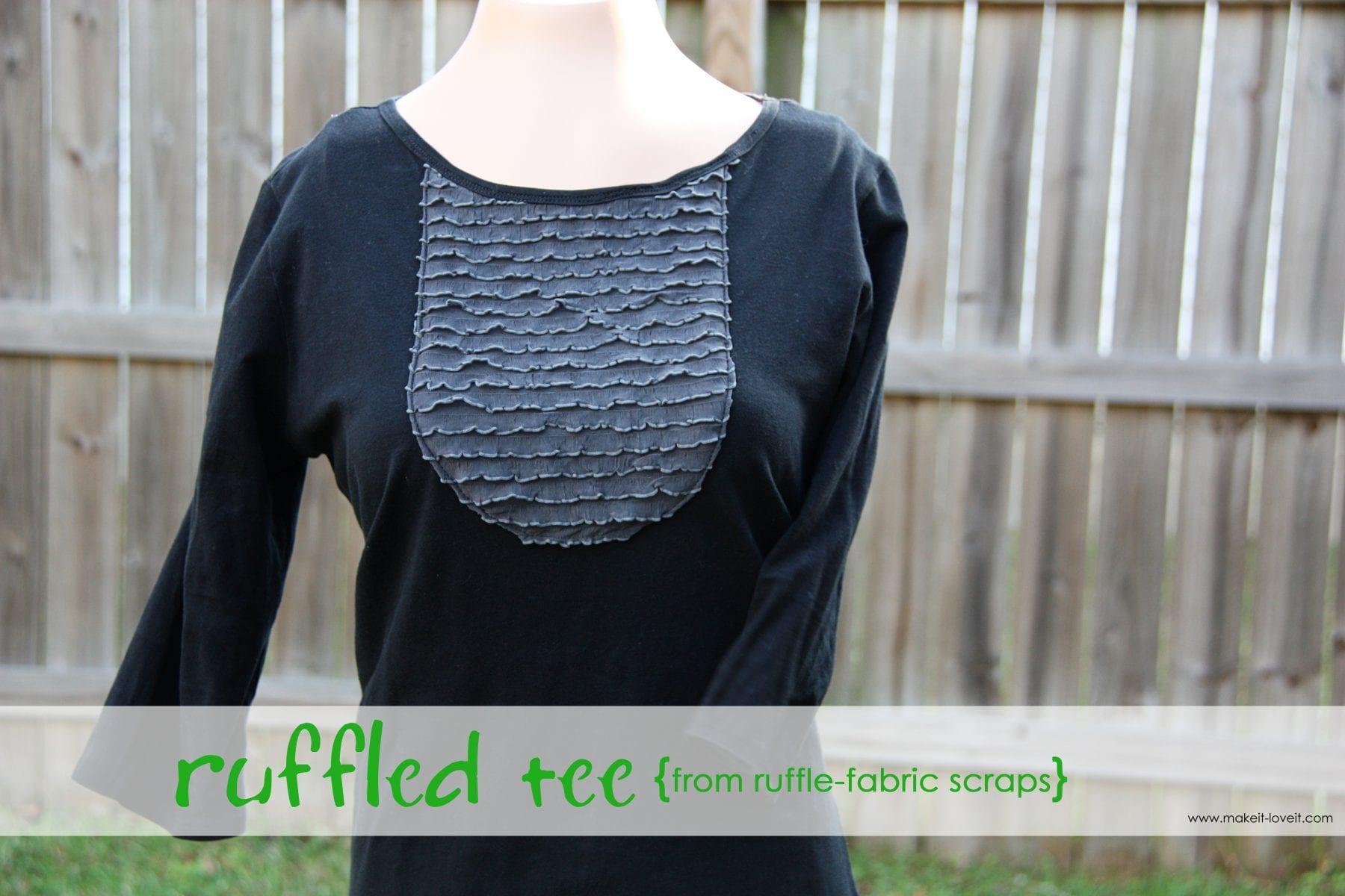Ruffle Shirt {from ruffle fabric scraps}