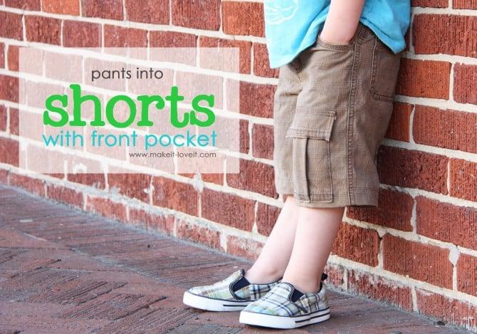 Pants to Shorts Tutorial