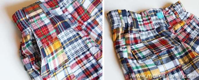 boy shorts pockets