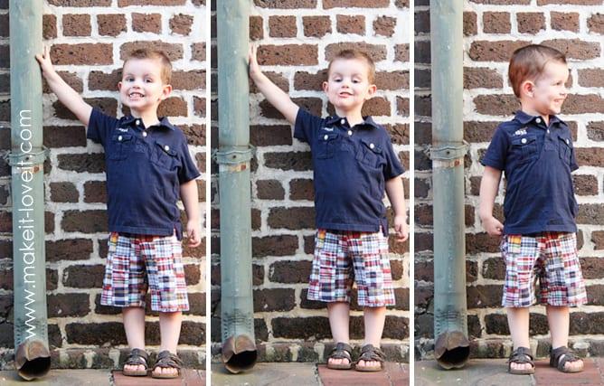 Сшить шорты на мальчика 29