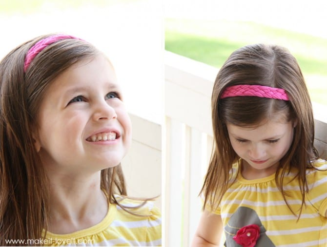 how to make a braided headband with your own hair