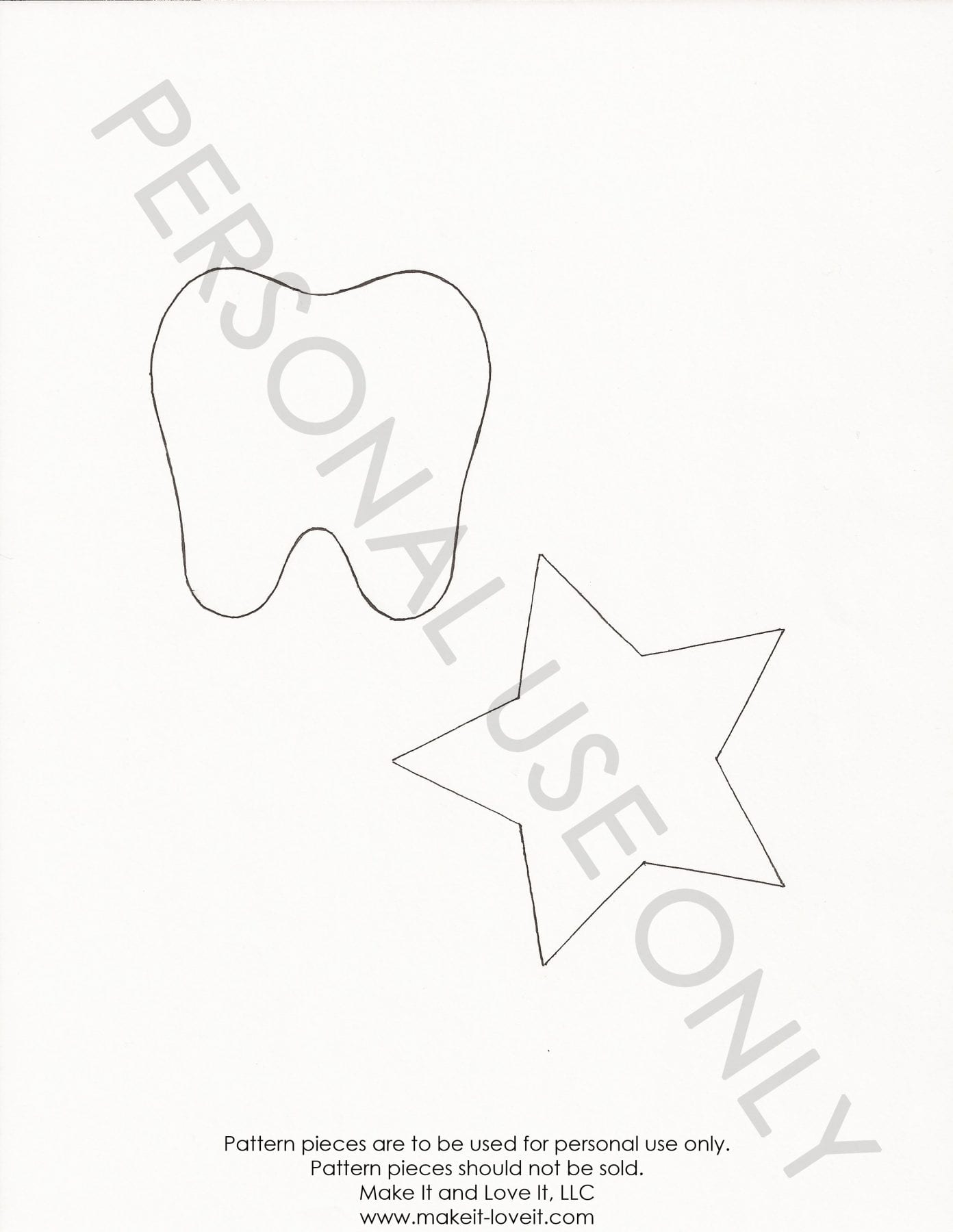 Tooth star template make it and love it tooth star template maxwellsz