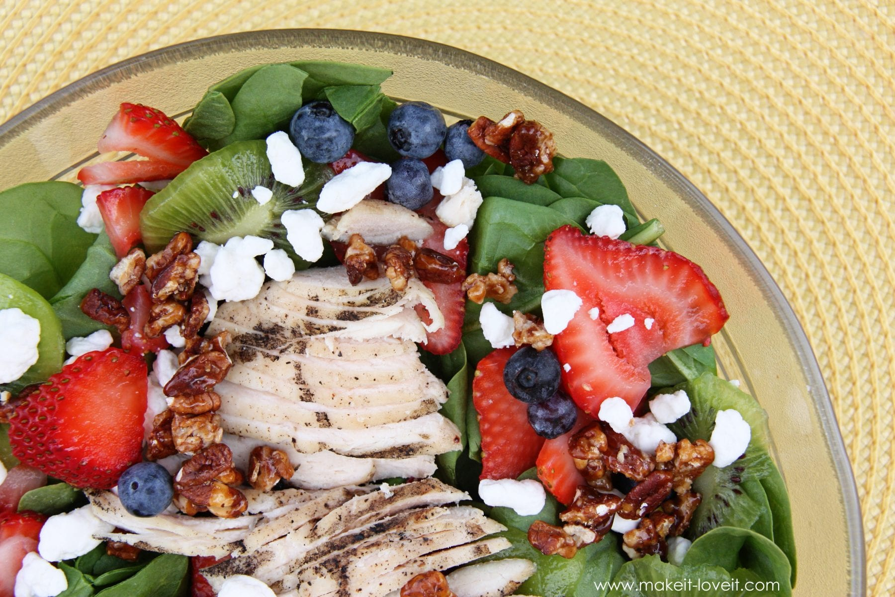Spinach and Fruit Summer Salad