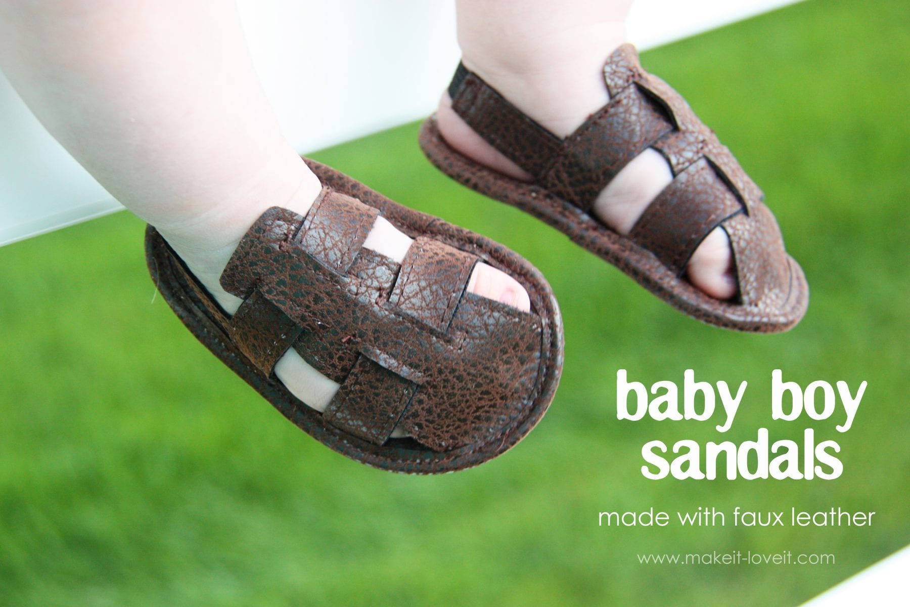 Baby BOY sandals made with faux leather
