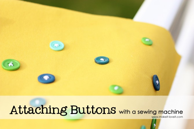 Attaching buttons with a sewing machine