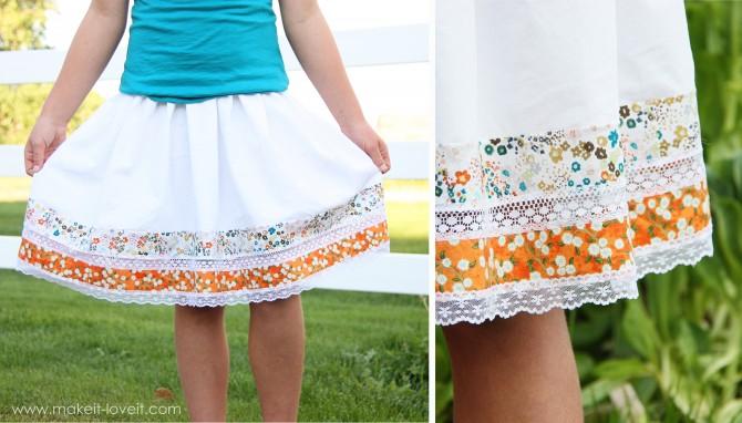 breezy skirt details
