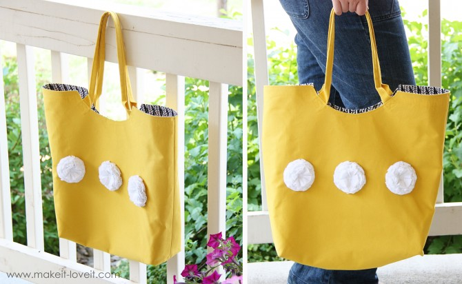 tote with rounded opening