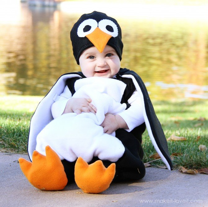 DIY Mary Poppins Penguin Costume for Toddlers by Ashley Johnston