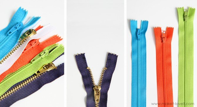 Variety of Zippers