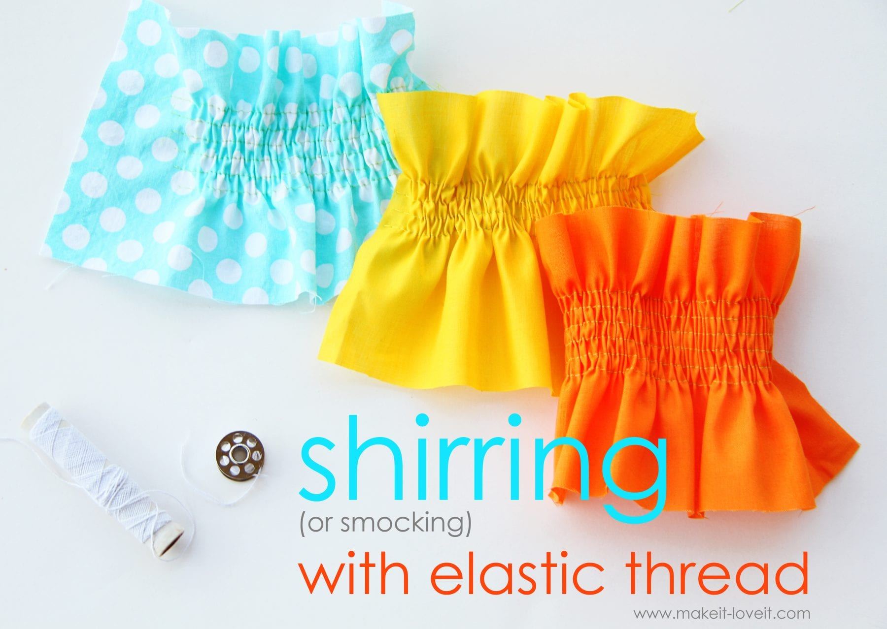 Sewing Tip  Shirring Smocking with Elastic Thread – Make It and Love It aa040ae68