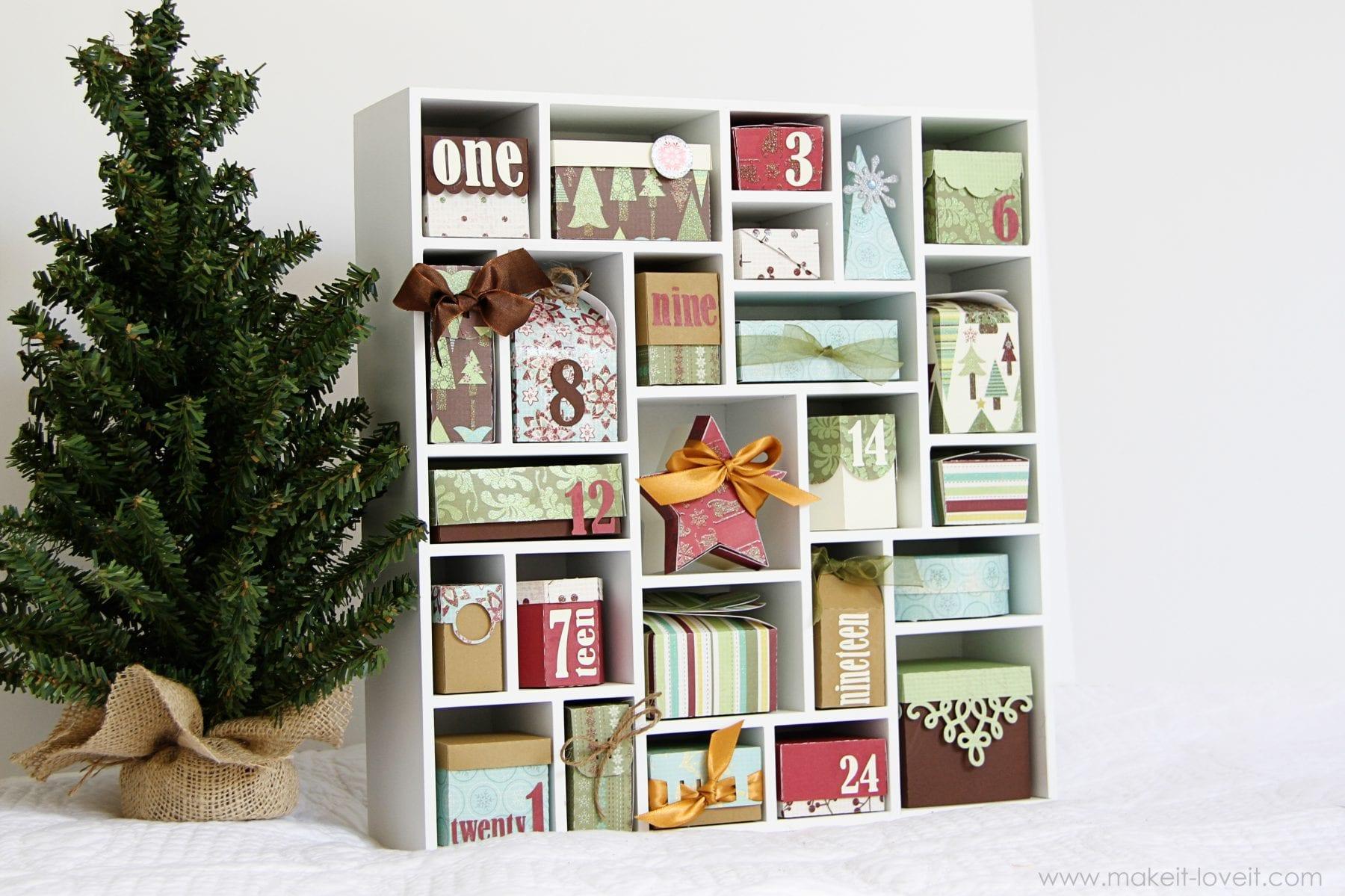 Christmas Advent Calendar Shadowbox: Using the Silhouette (Plus DISCOUNT)