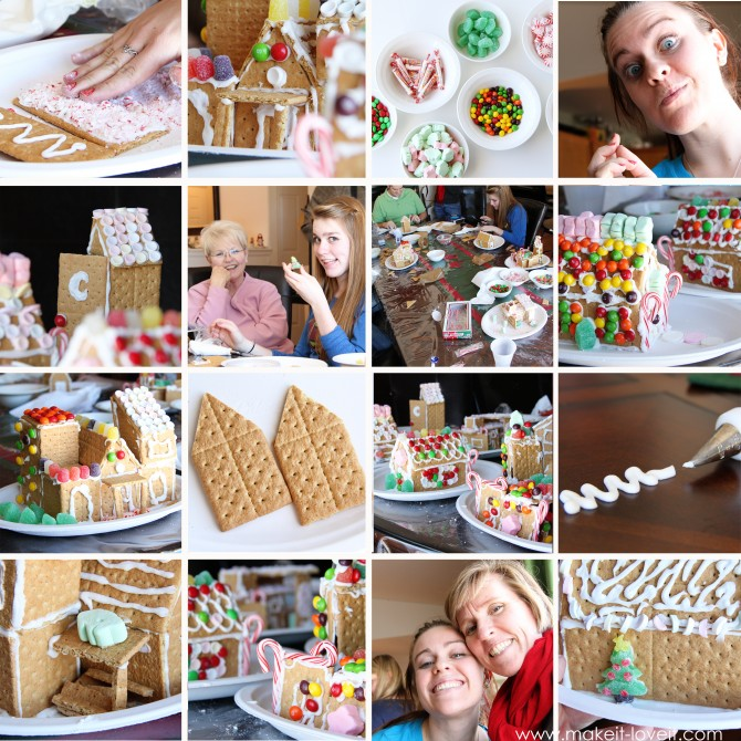 candy house collage