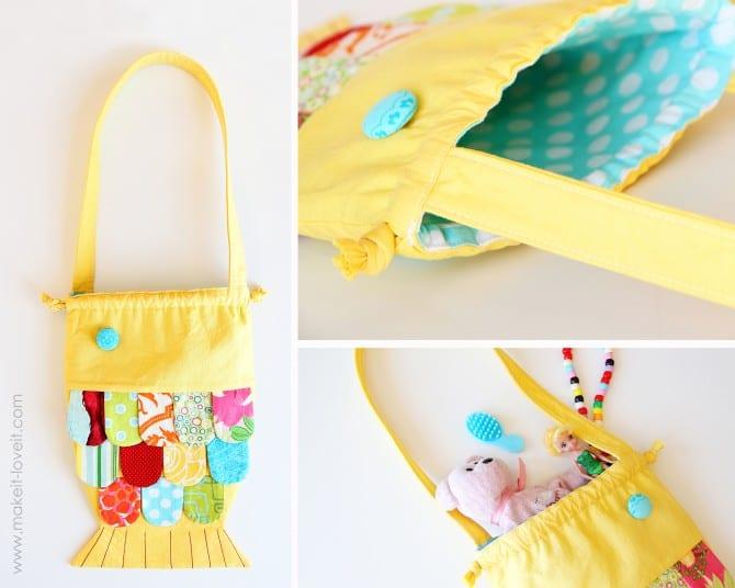 fabric fishy purse