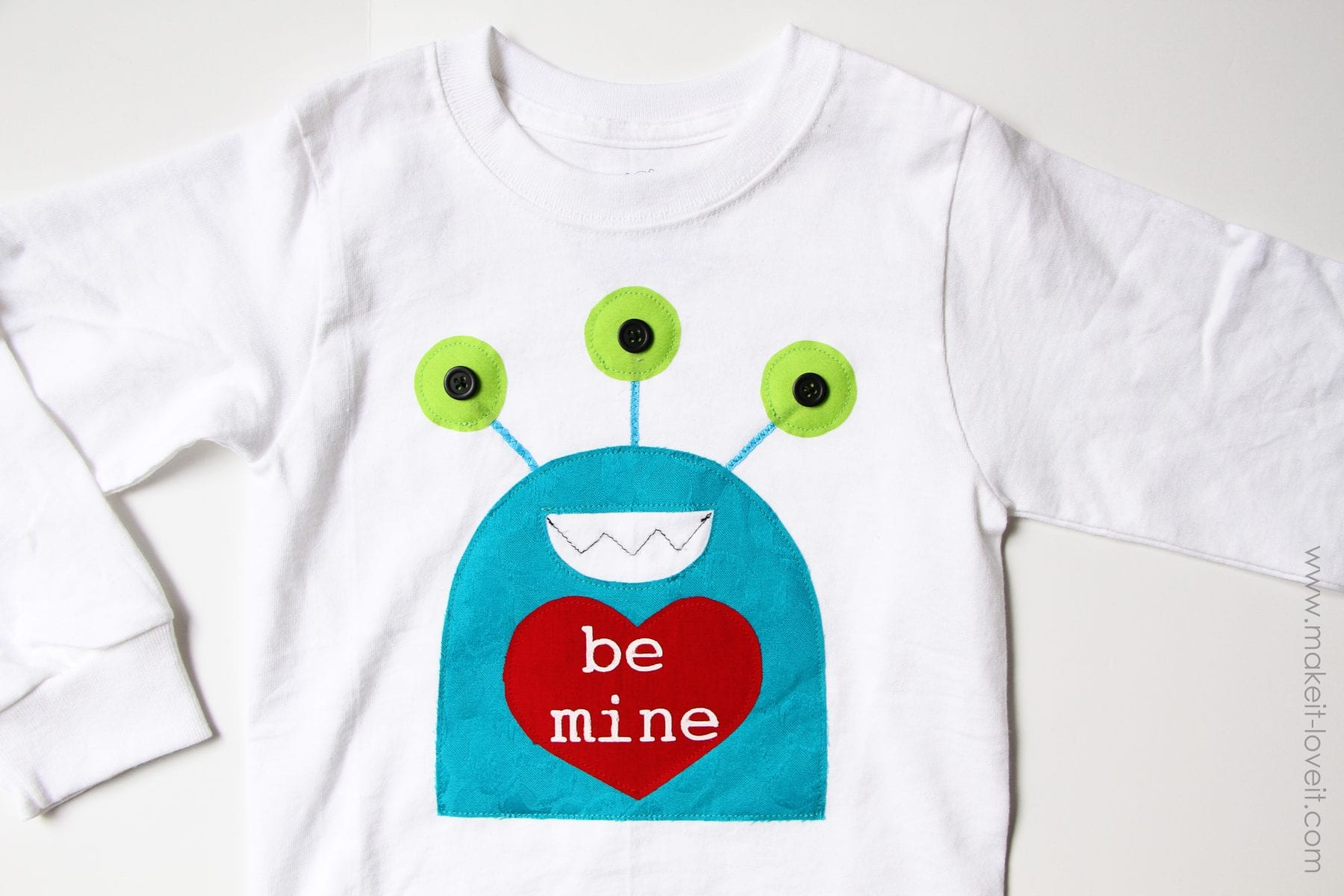 Boy's Monster Valentine's Day Shirt (template included)