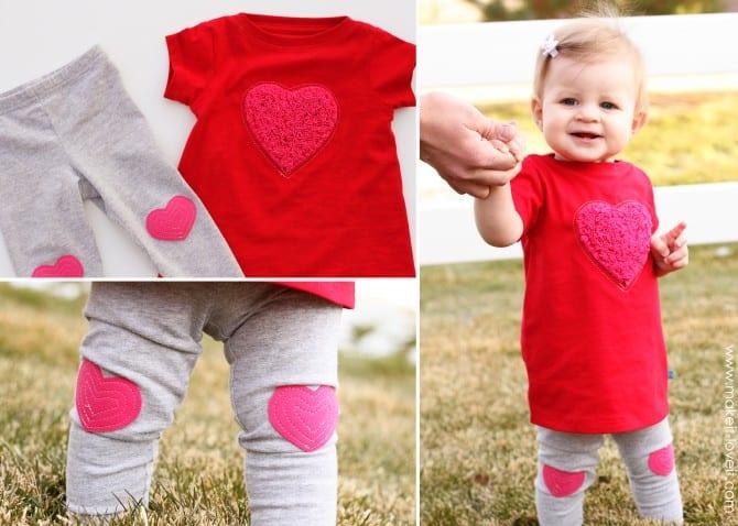 heart dress and leggings