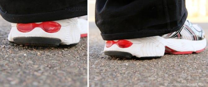 heel down
