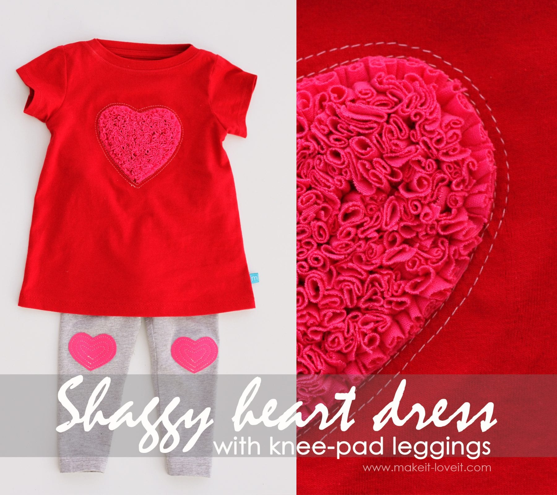 shaggy heart dress