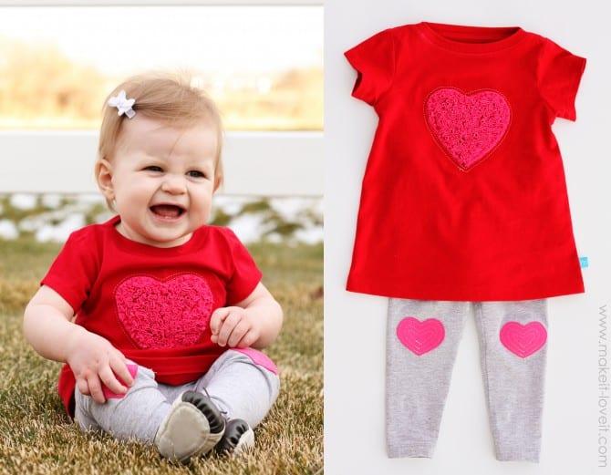 shaggy heart on dress