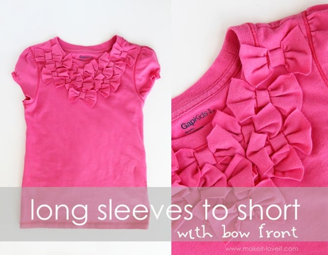 bow front shirt