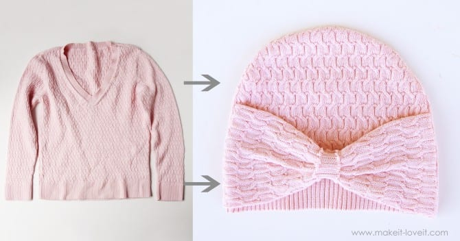 pink sweater hat