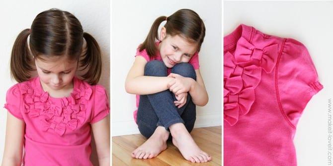 short sleeve bow shirt