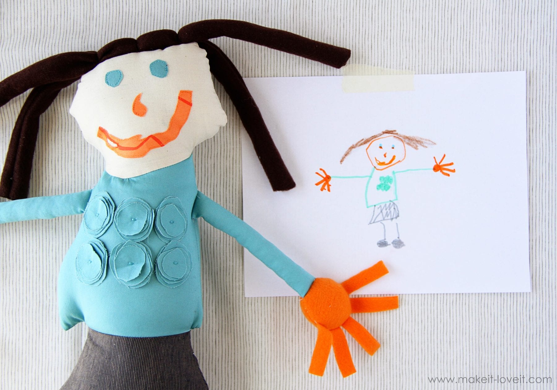 Turn Child's Drawing into Stuffed Toy/Doll