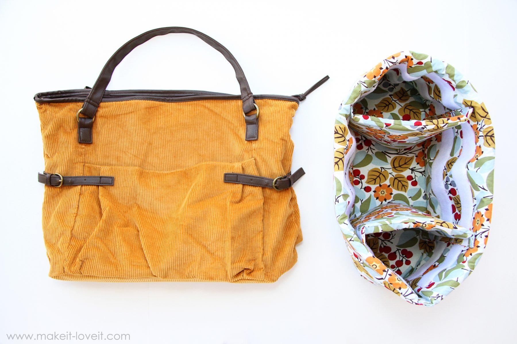 Turn a purse into a padded camera bag
