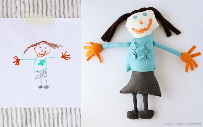 drawing into doll