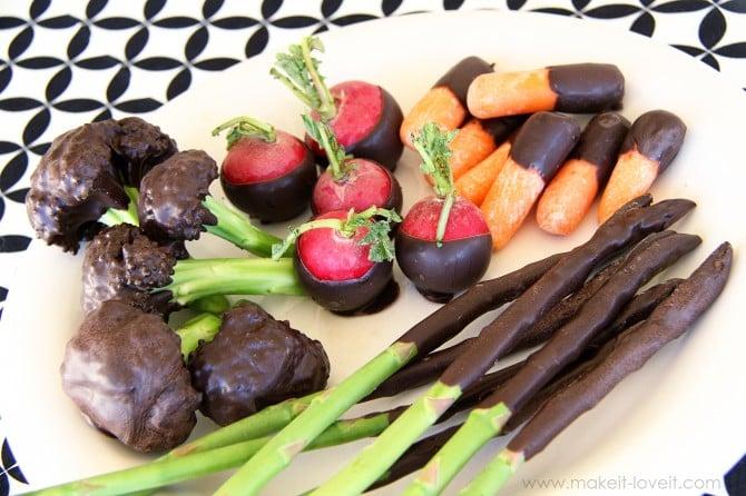 Chocolate covered veggies……(edited: april fool's!!)