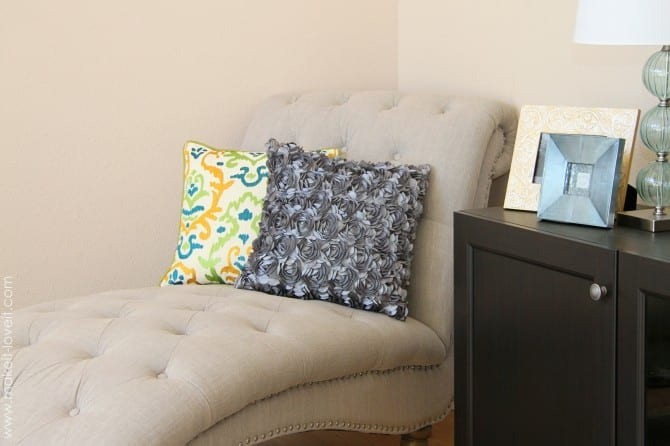 Decorative satin flower pillow….made easy