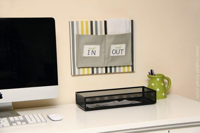 Fabric mail organizer (wall mounted)