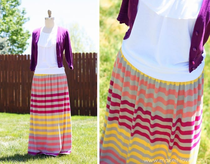 Turn an ill-fitting maxi dress into a maxi skirt. perfect.
