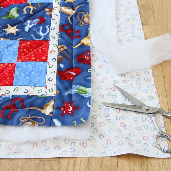 Downy touch of comfort – quilts for kids, part 2 (quilting and binding….the easy way)