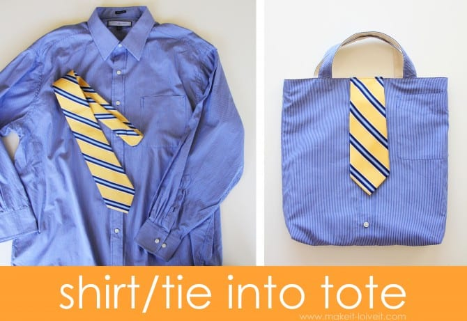 shirt tie into tote