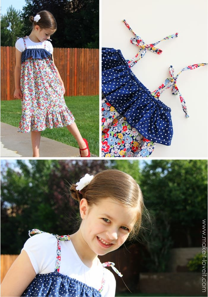 Quick little ruffle top dress or romper (our 4th of july outfits)