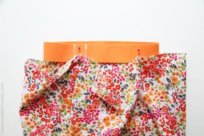 Elastic band skirt {aka: the fastest skirt you'll ever make}