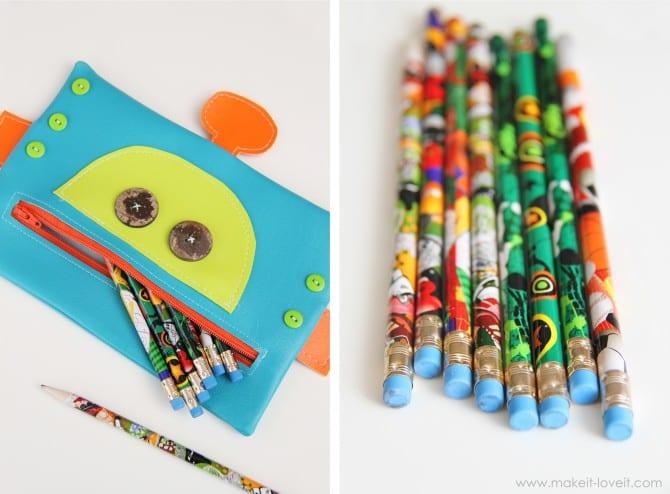 Robot zipper mouth pencil case {boy version}