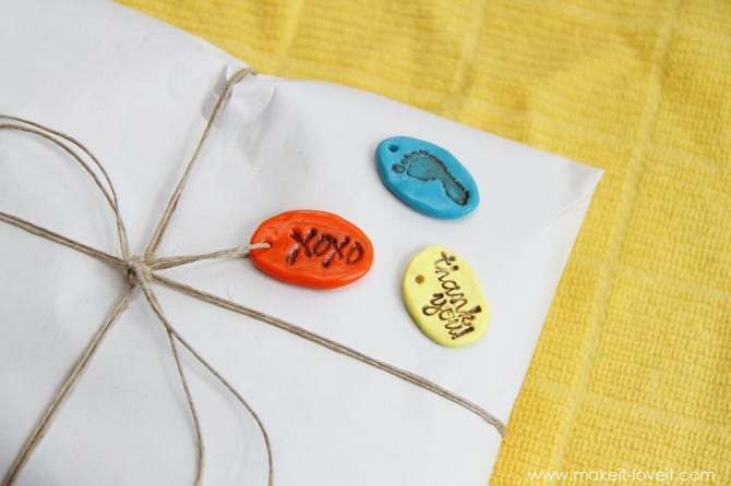 Stamped clay jewelry (and keychains and gift tags)