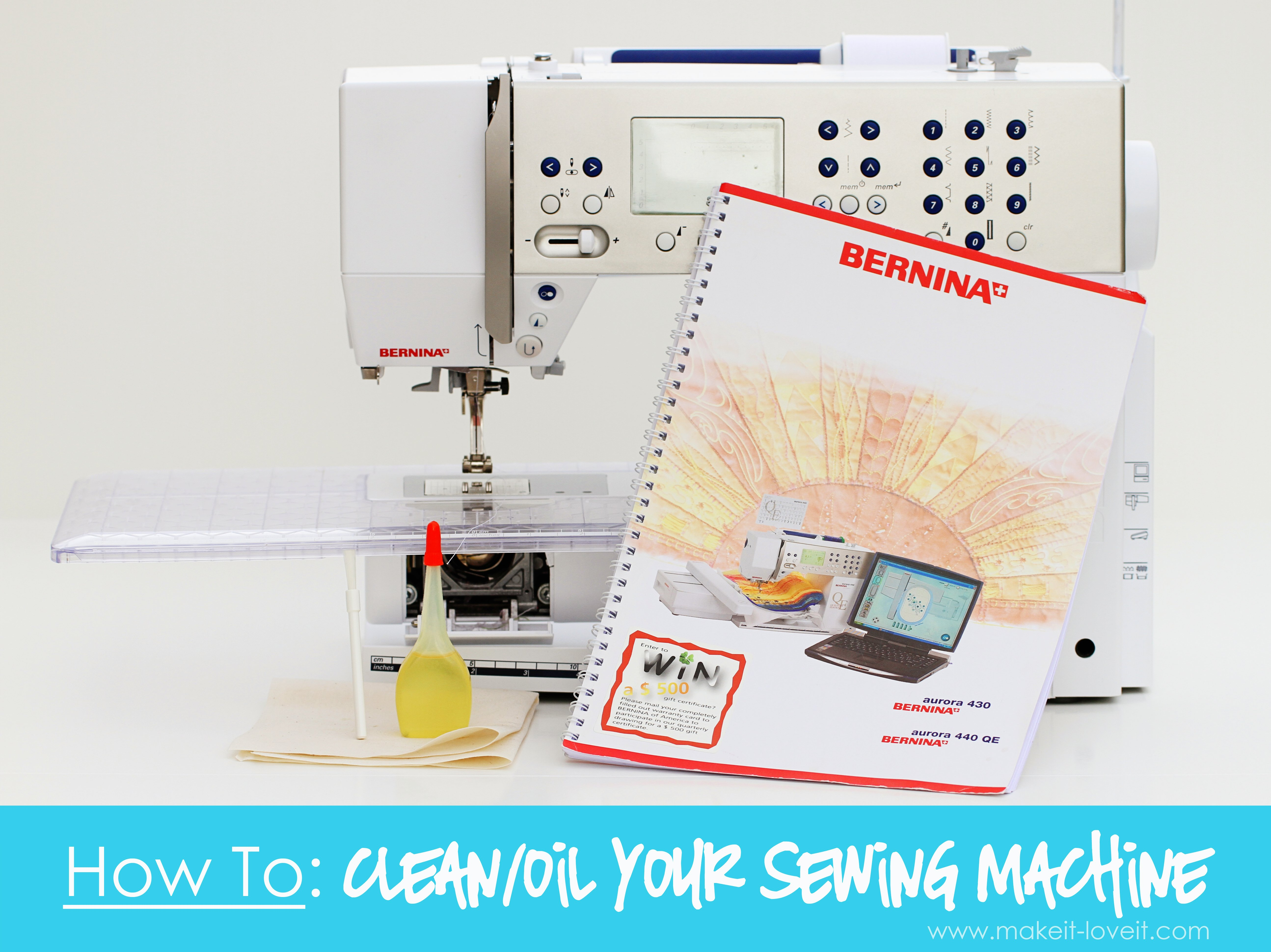How to: clean/oil your sewing machine