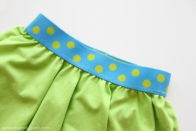 The square circle skirt (20-ish minutes to make)