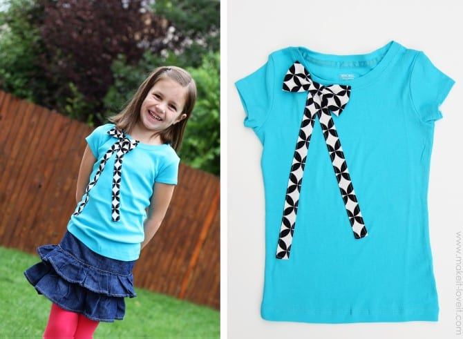 Tshirt with big bow attached (a request from my niece)